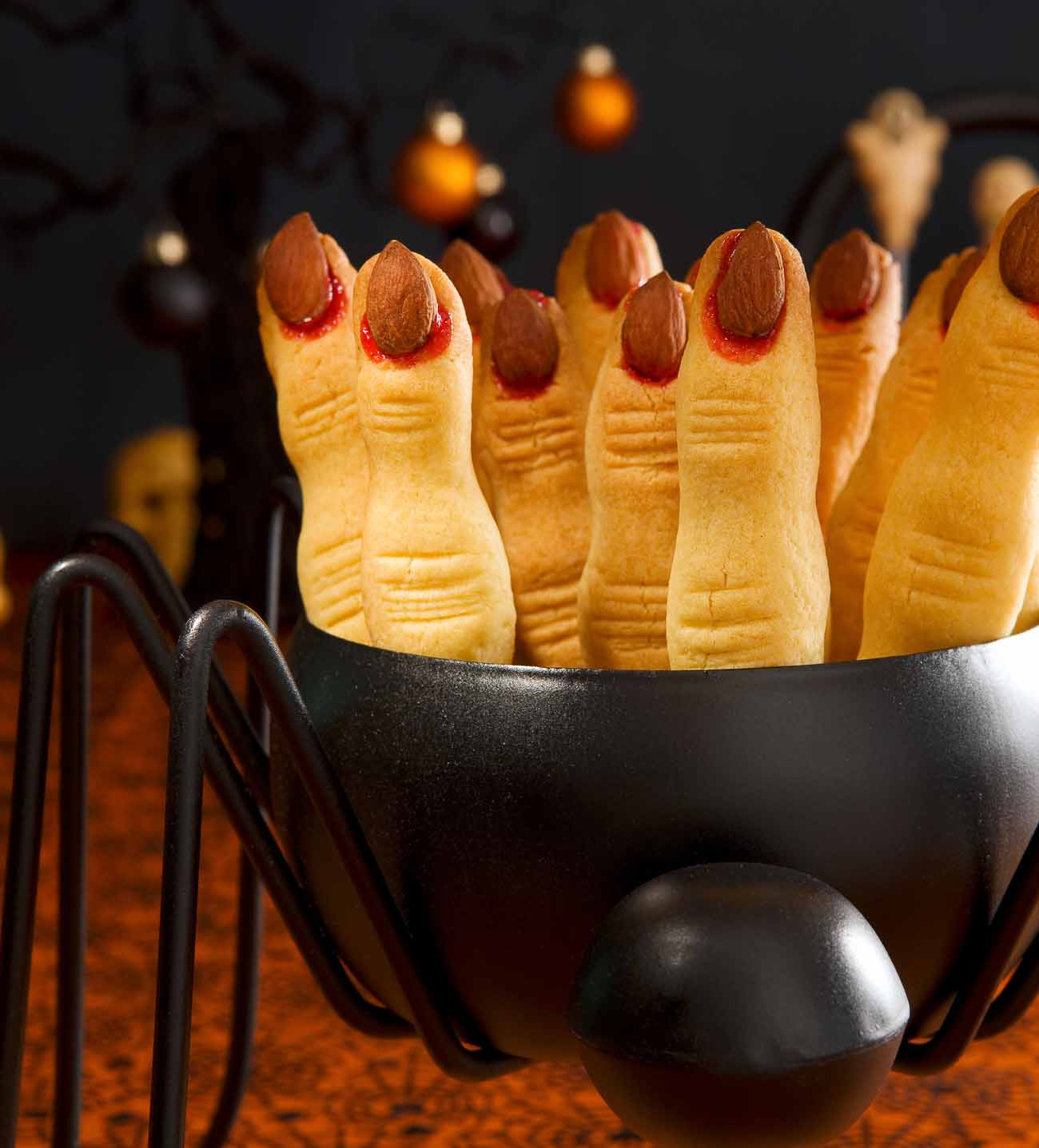Halloween Witch Finger Cookies.Eggless Spooky Witch Finger Cookie Recipe Perfect Halloween Cookies By Archana S Kitchen