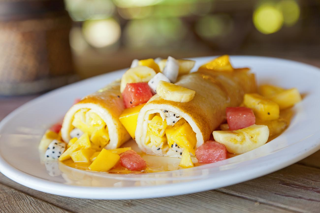 Mango & Fruit Filled Creme Crepe Recipe