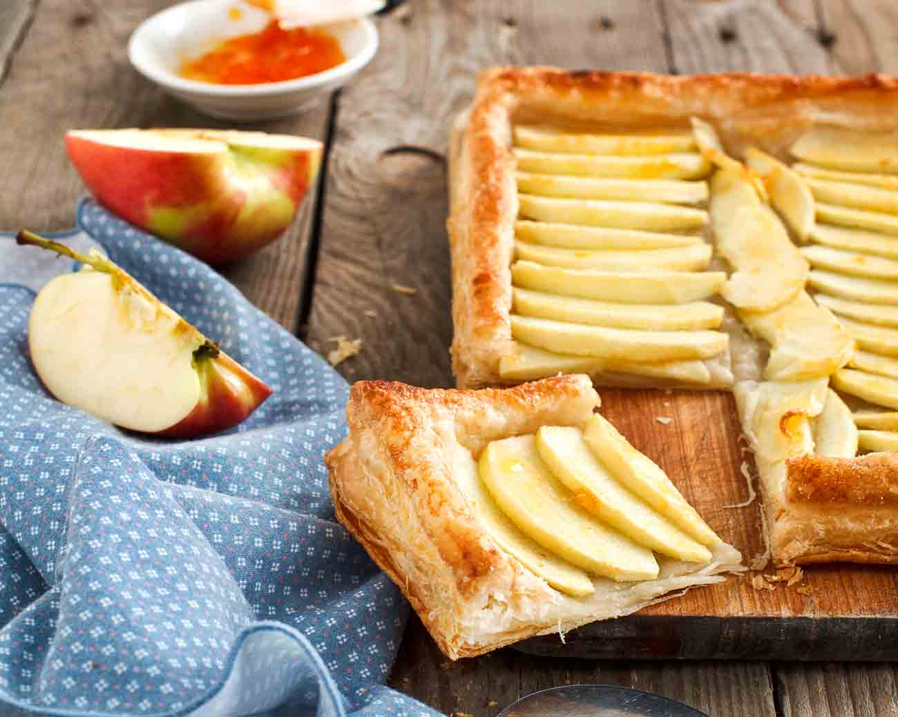 Apple Tart With Puff Pastry Recipe Open Pie By Archanas