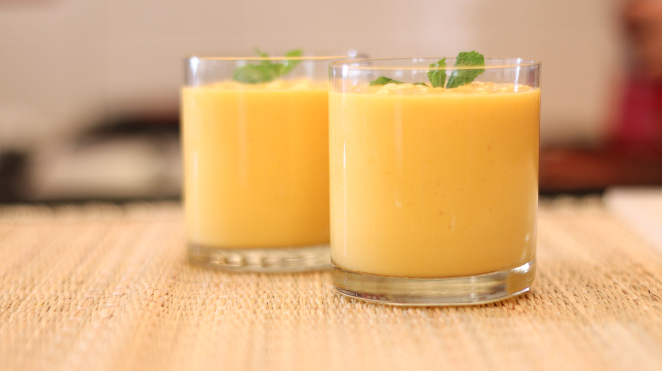 Mango Lassi Recipe - Mango Yogurt Drink