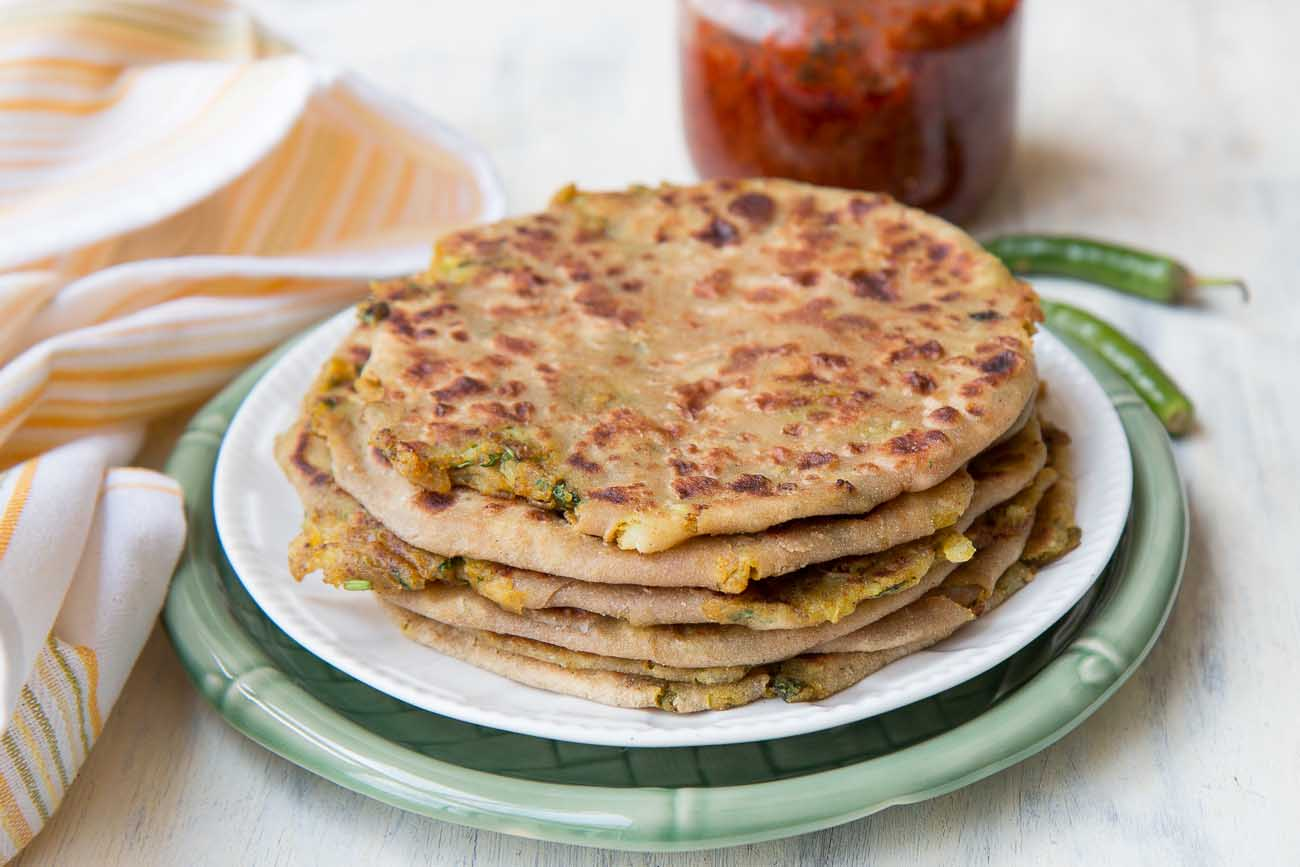 Punjabi Aloo Paratha Recipe - Spiced Indian Potato Flatbread