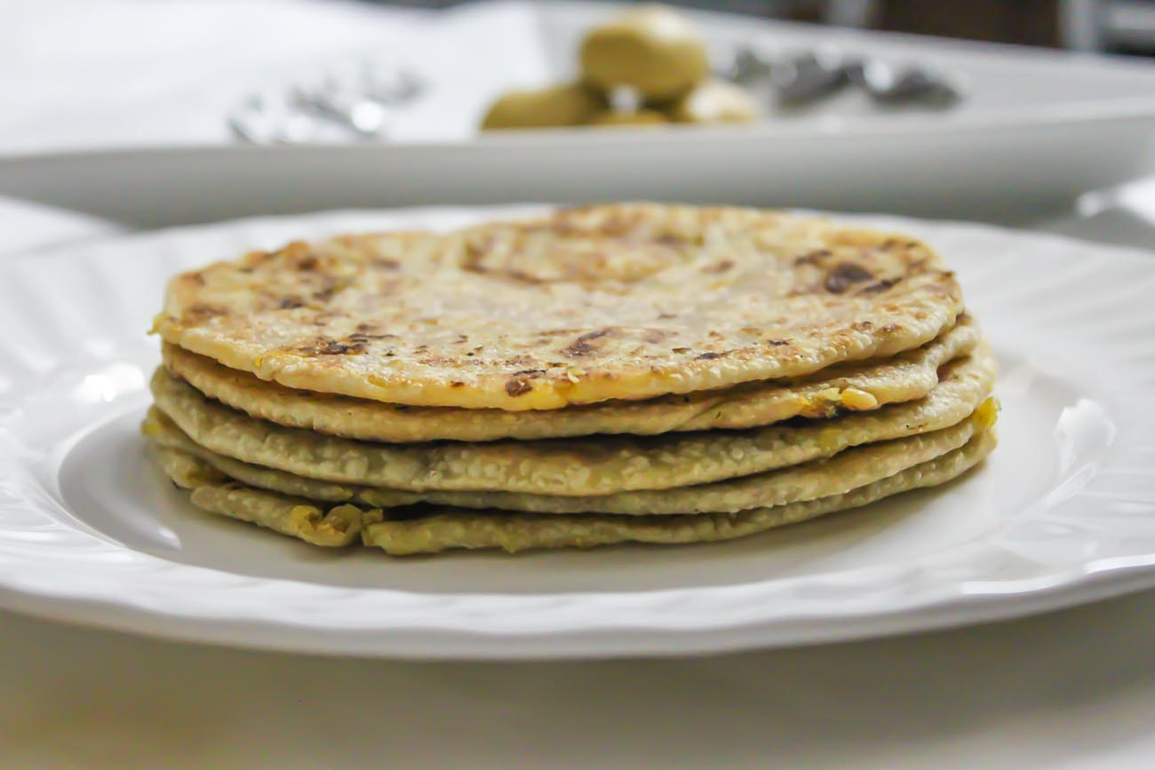 Green Moong Dal Paratha Recipe - Stuffed Lentil Flatbread