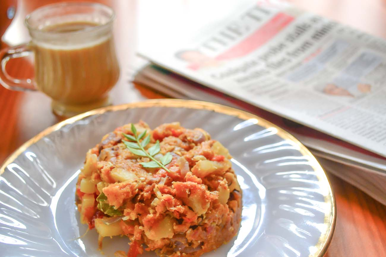 Scrambled egg bread upma recipe with potatoes by archanas kitchen scrambled egg bread upma recipe with potatoes forumfinder Images