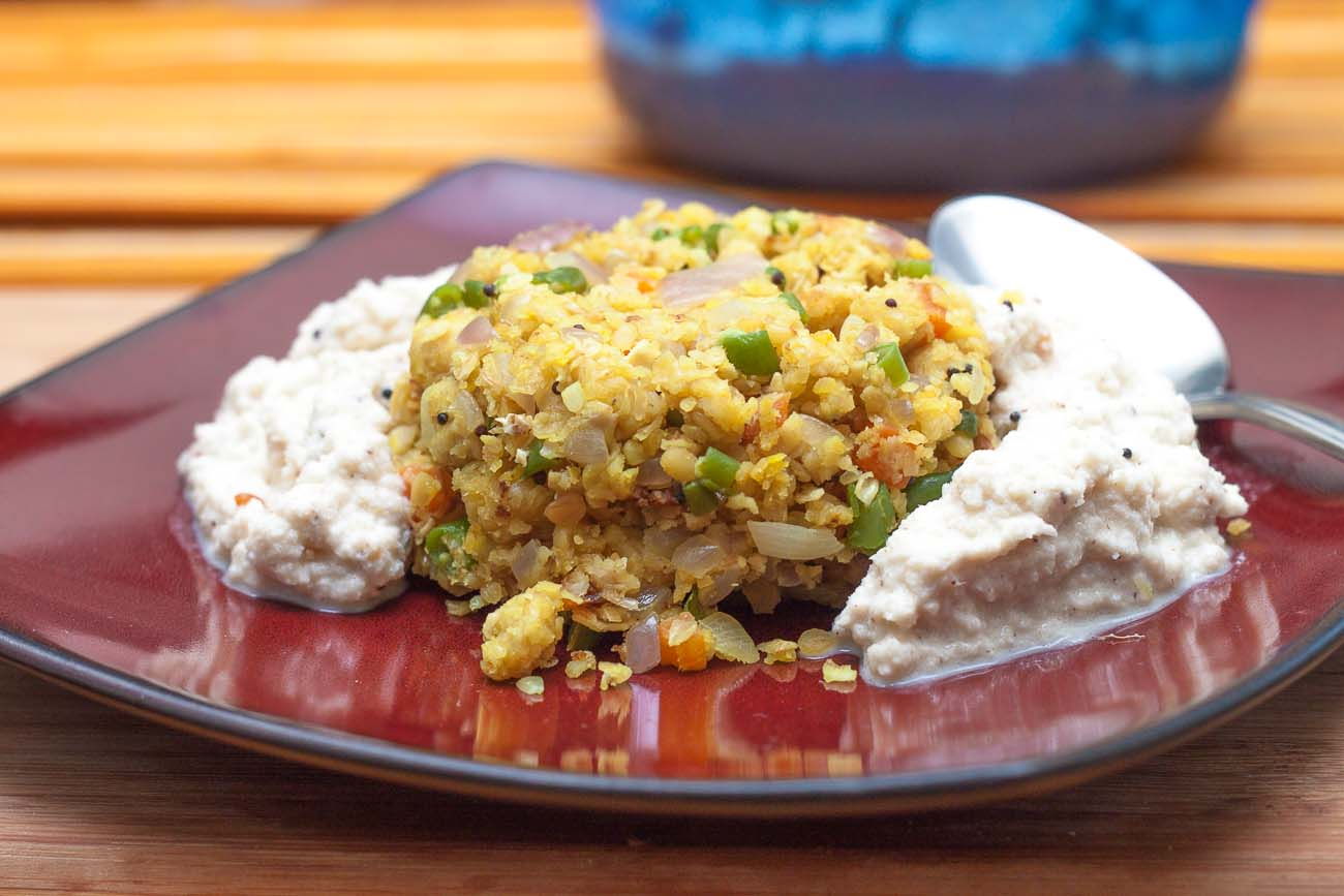 Vegetable Oats Upma Recipe