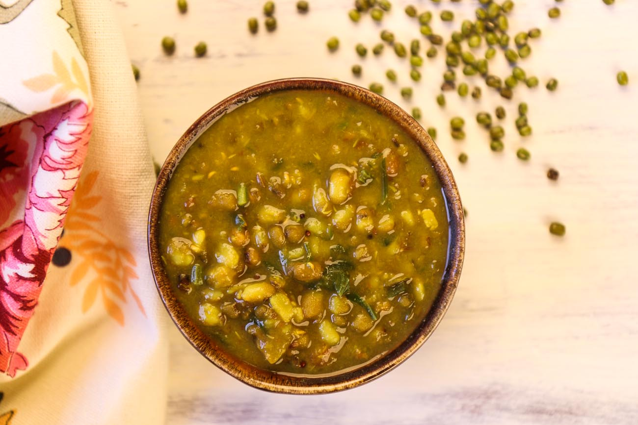 Dhaba Style Green Moong Dal Tadka Recipe