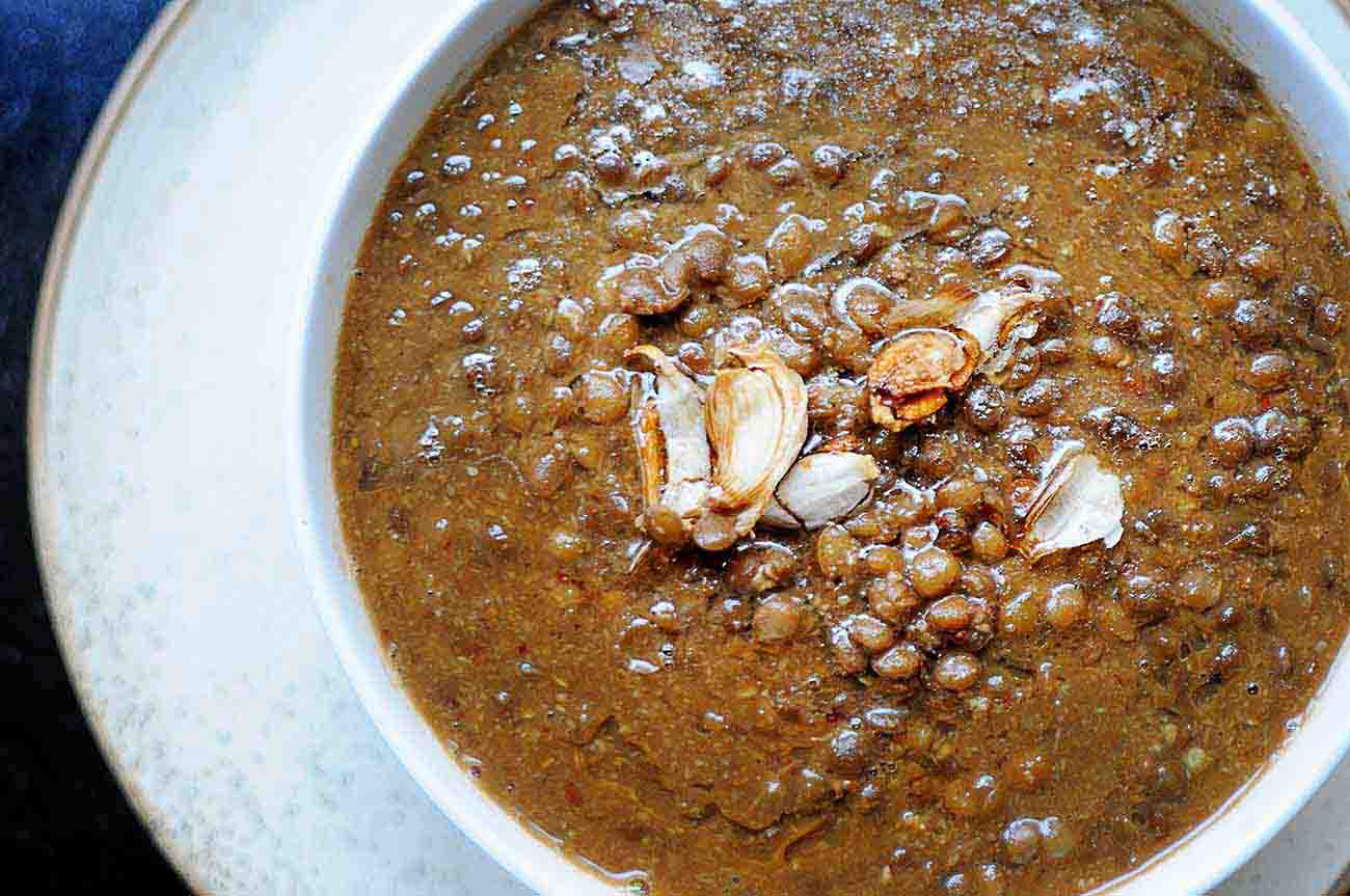 Masoor Dal Gassi Recipe - Lentils in Tangy Coconut Curry