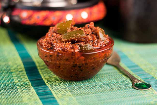 Aam Ka Achaar Recipe - North Indian Spicy Raw Mango Pickle