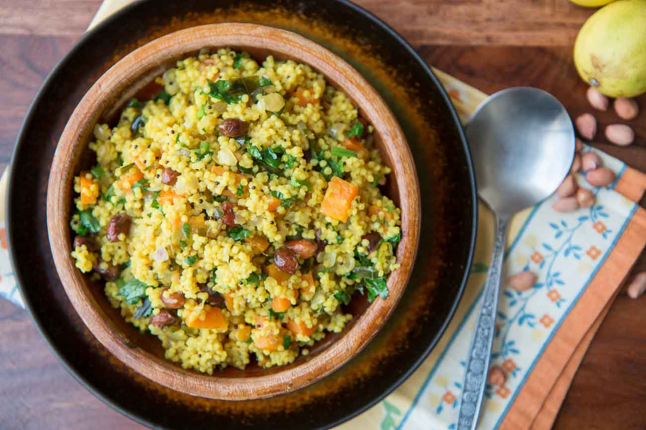 Foxtail Millet Lemon Rice Recipe-Elumichai Thenai