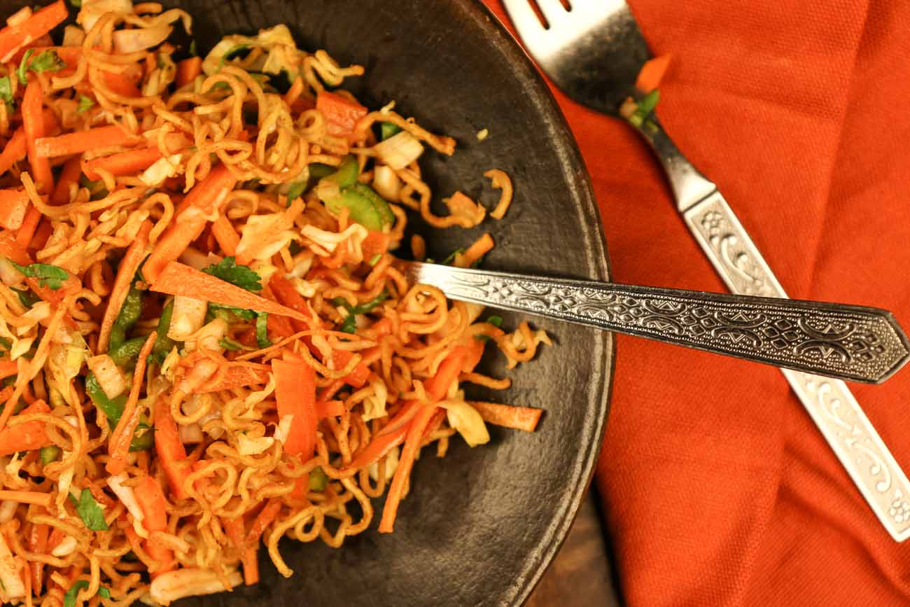 Chinese bhel recipe crispy noodle salad by archanas kitchen chinese bhel recipe crispy noodle salad forumfinder Choice Image