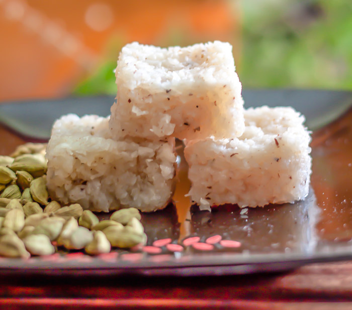 Coconut Burfi Recipe - Kopra Pak/ Fresh Coconut Fudge