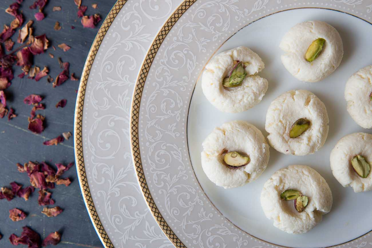 Gulab Sandesh Recipe - Cottage Cheese Flavored with Rose Water