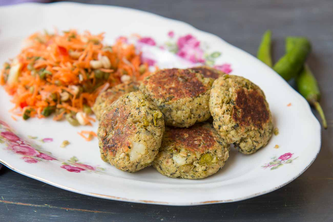 Matar Pudina Oat & Broken Wheat Tikki Recipe