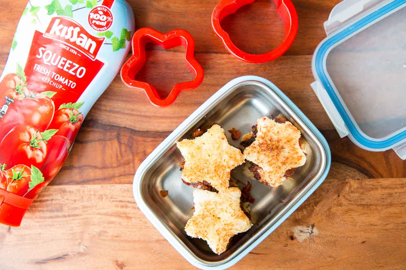 Star Cutlet Sandwich Recipe For the Kids Tiffins Using Kissan Food Cutters