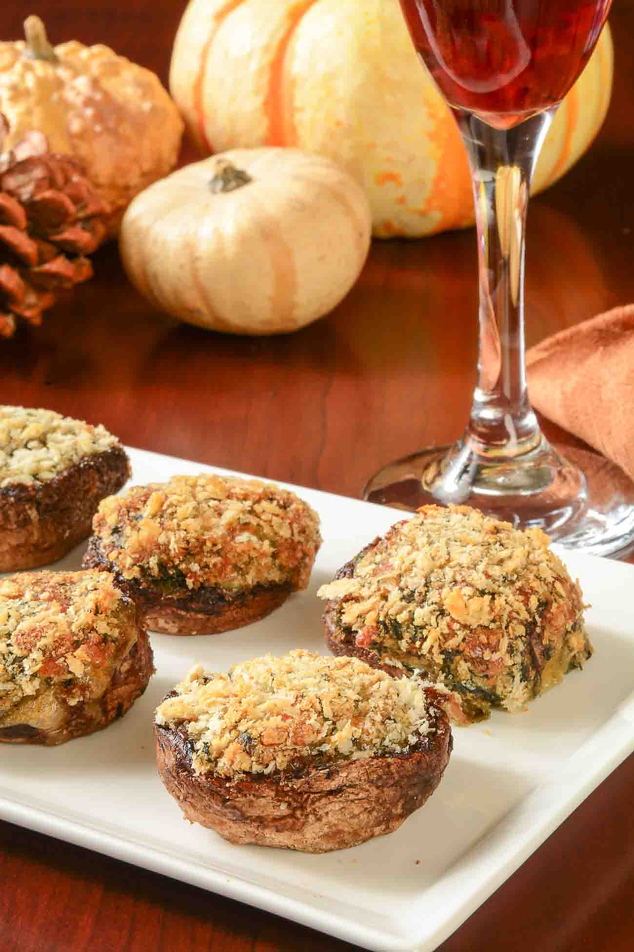 Stuffed Mushrooms With Spinach & Parmesan Recipe