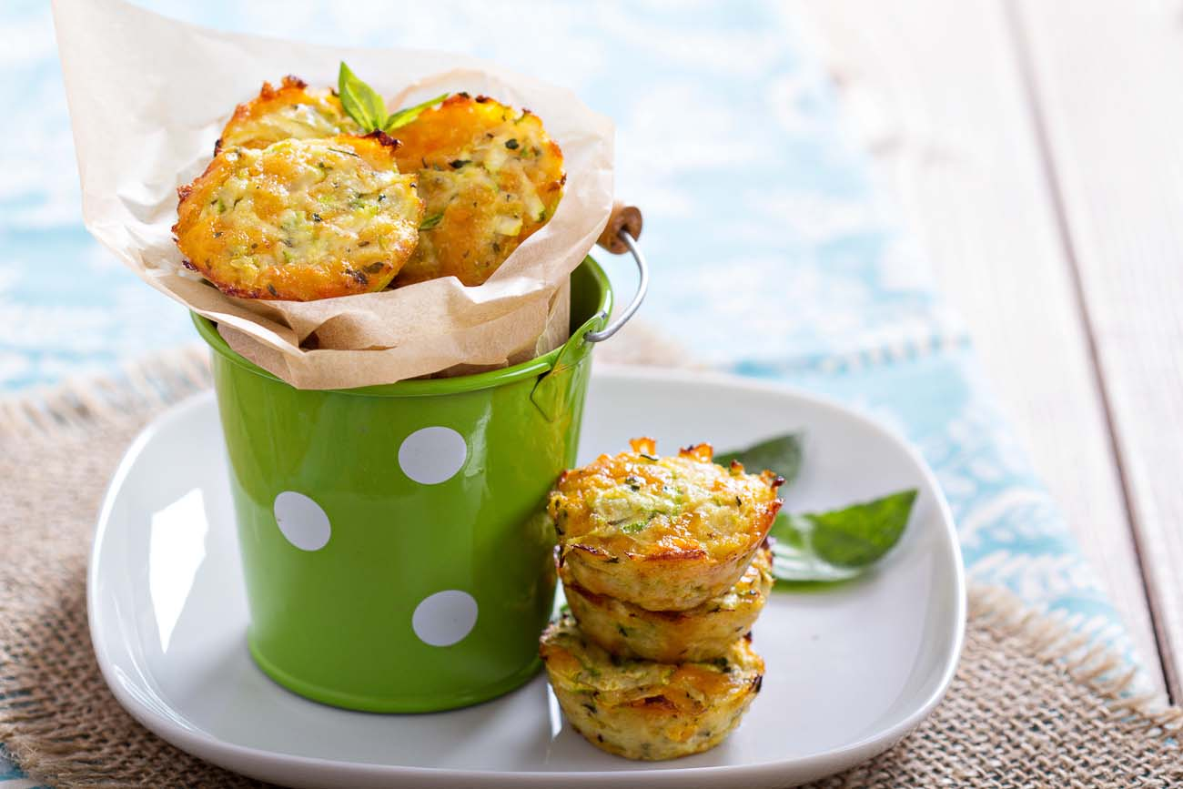 Courgette Cheese & Red Pepper Muffin Recipe