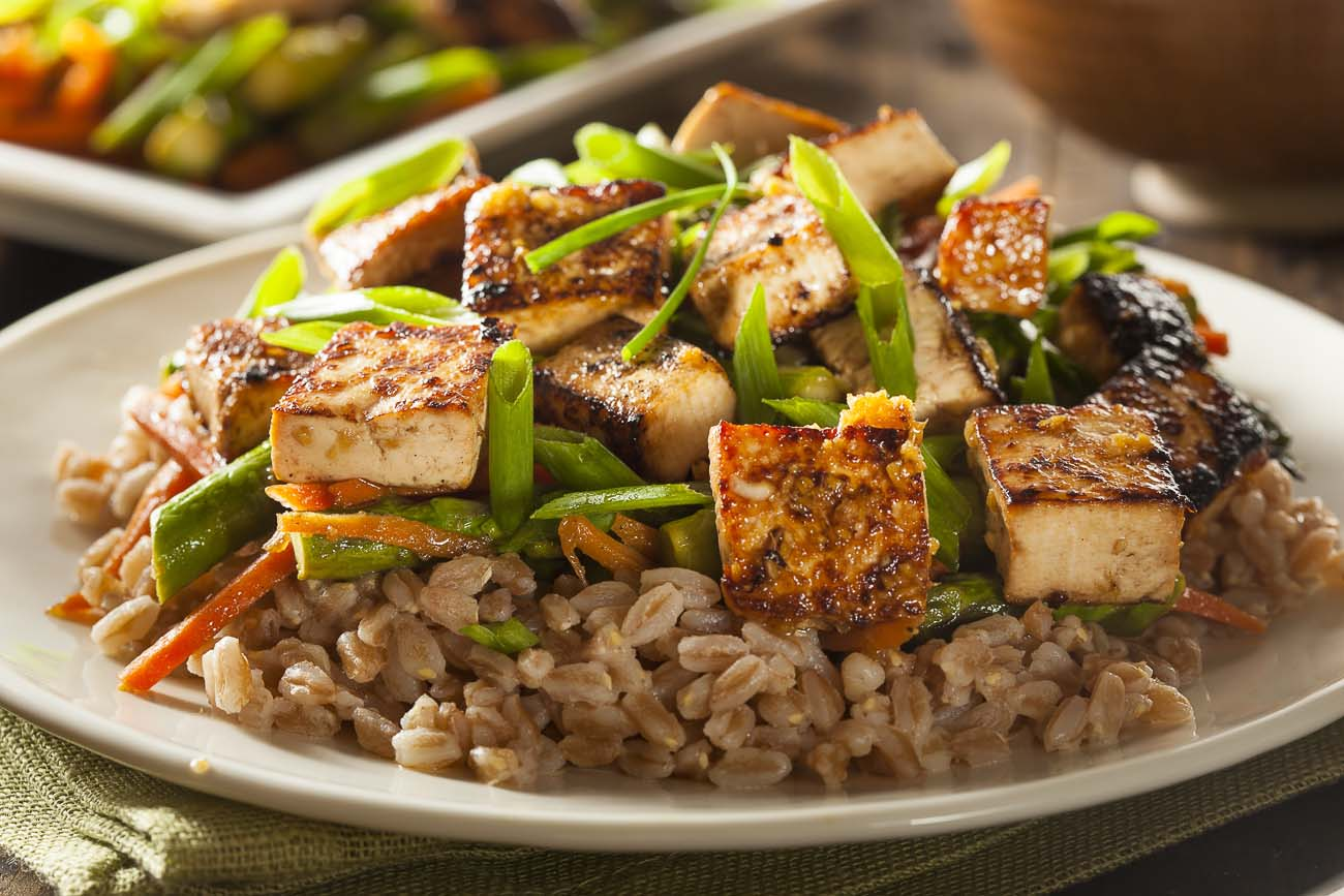 Sweet and Sour Vegetable Recipe with Tofu & Brown Rice