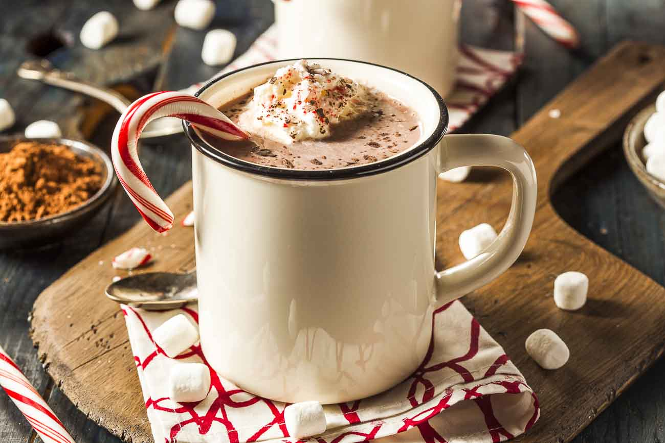 Homemade Hot Chocolate with Whipped Cream Recipe