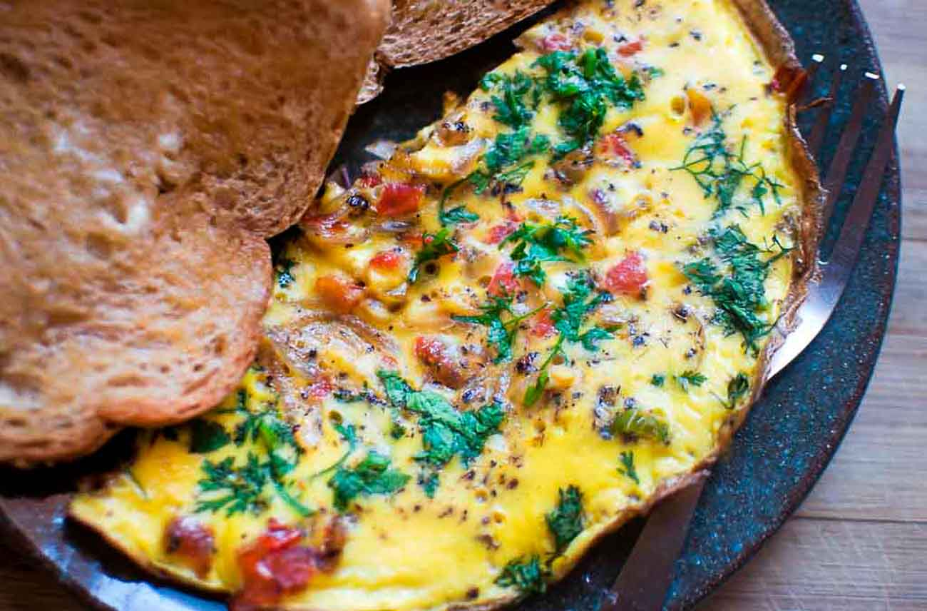 Spicy Indian Style Masala Frittata Recipe