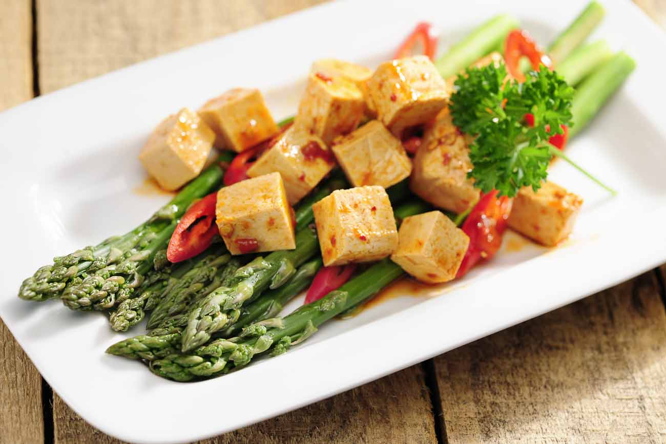 Asparagus With Paneer And Balsamic Butter Glaze Recipe