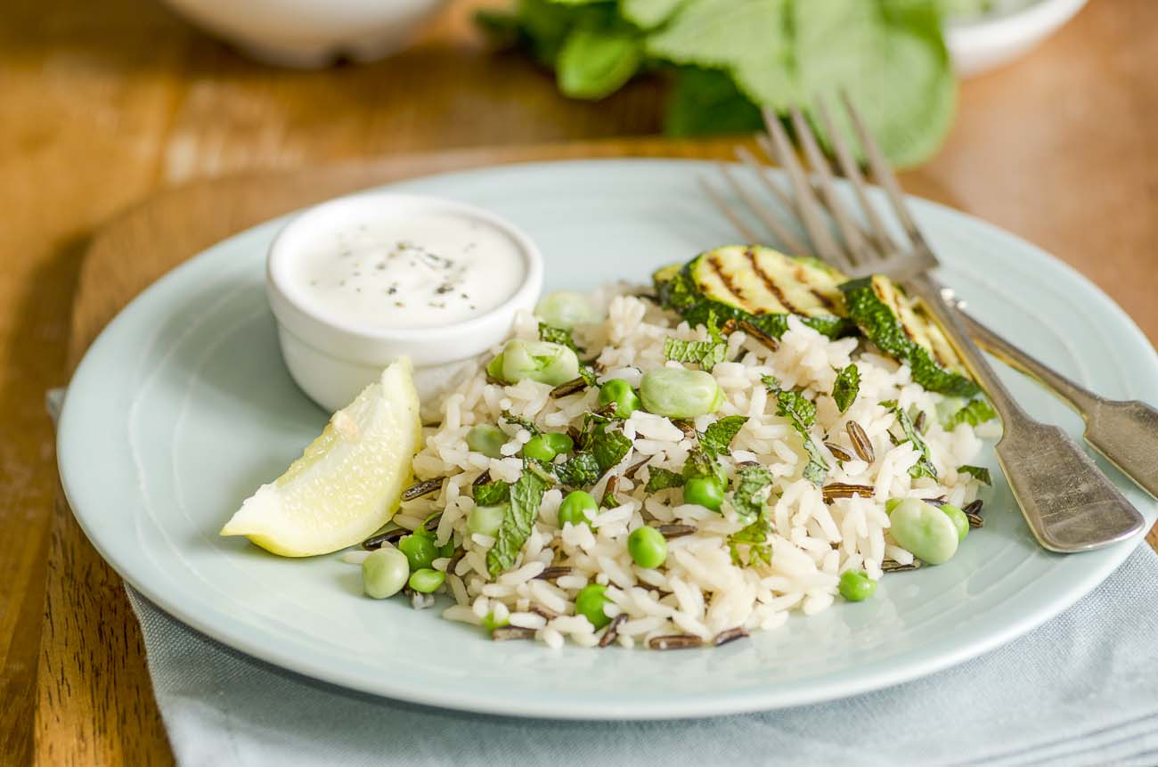 Broad Bean And Courgette Zucchini Pilaf Recipe