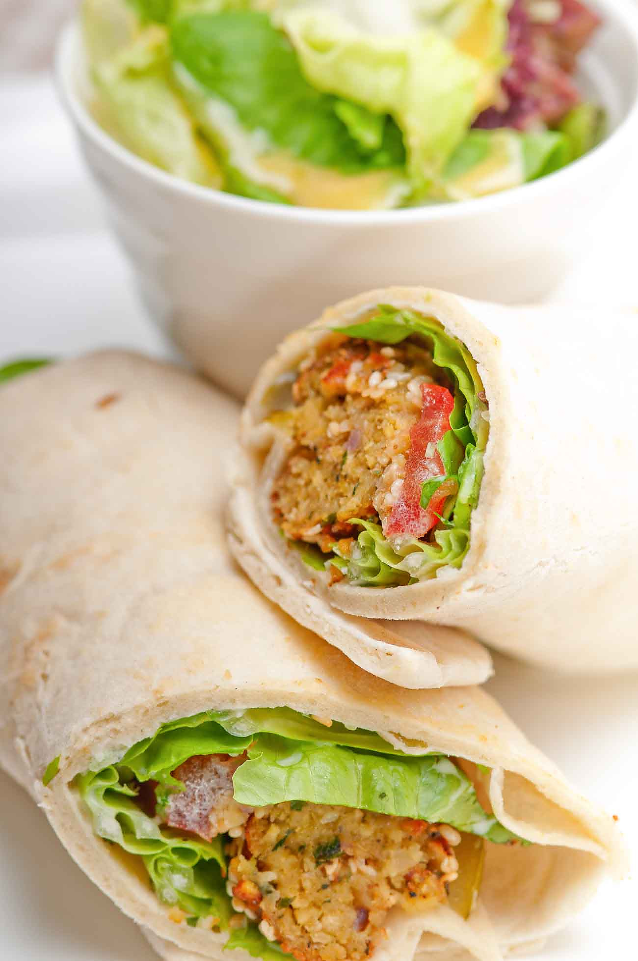 Middle Eastern Falafel & Hummus Wrap Recipe