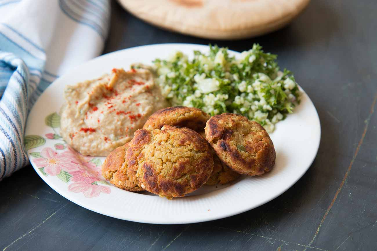 Chickpea & Oats Falafel Recipe
