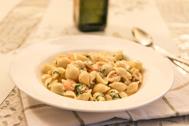 Conchiglie Al Forno Recipe with Carrots and Basil