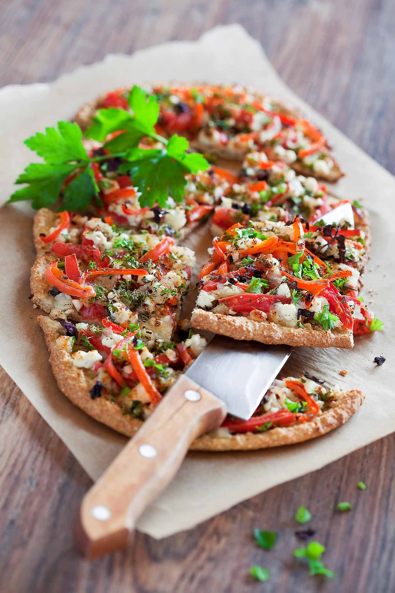 Roasted Vegetable Pizza Recipe With Oat Flour Crust