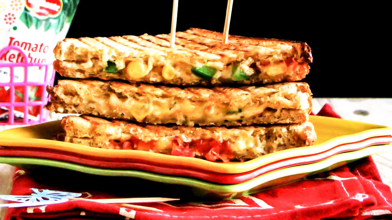 Cheesy Sweet Corn Grilled Sandwich Recipe By Archana S Kitchen