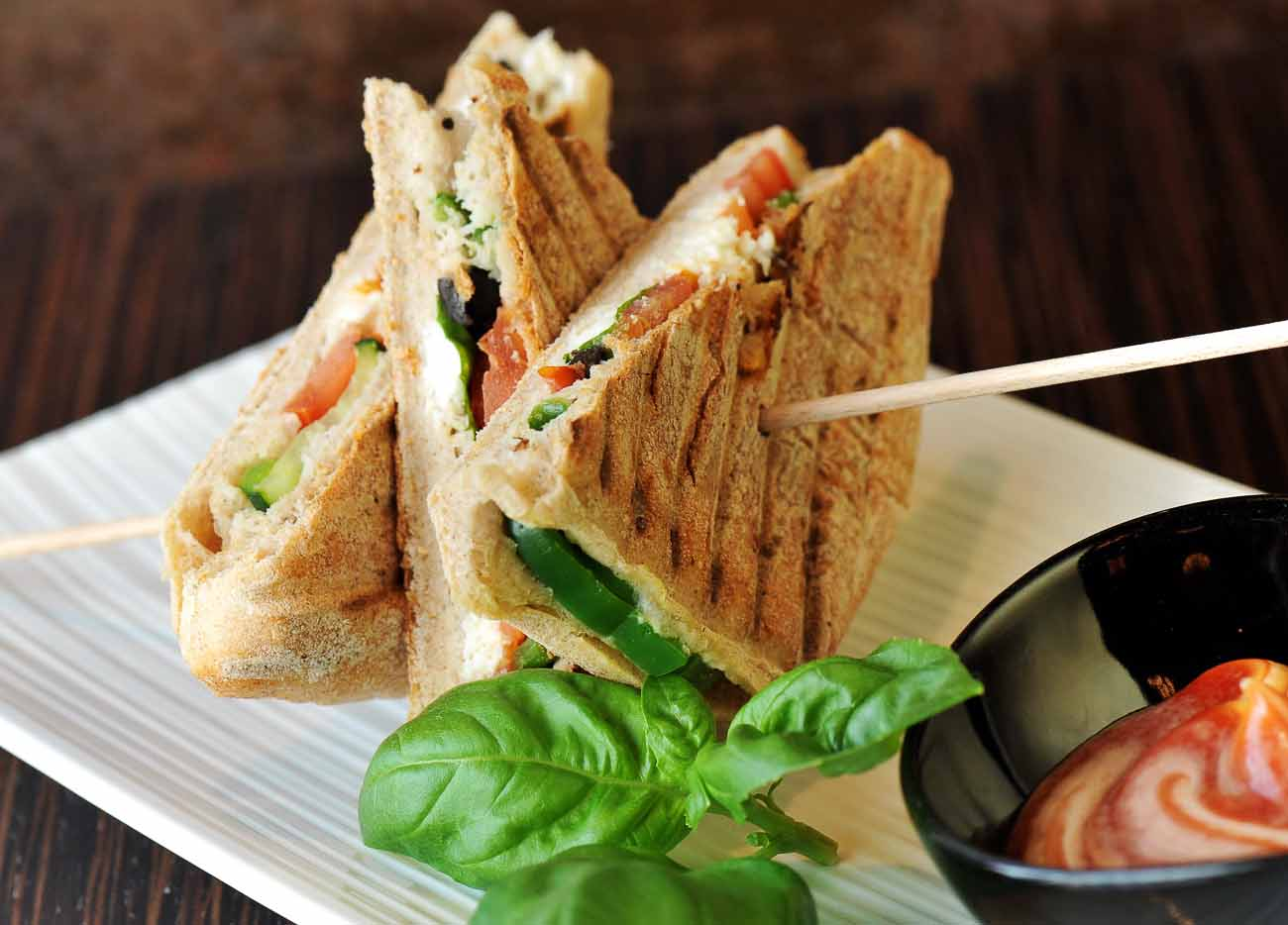 Grilled Vegetable Sandwich Recipe With Herb Goat Cheese