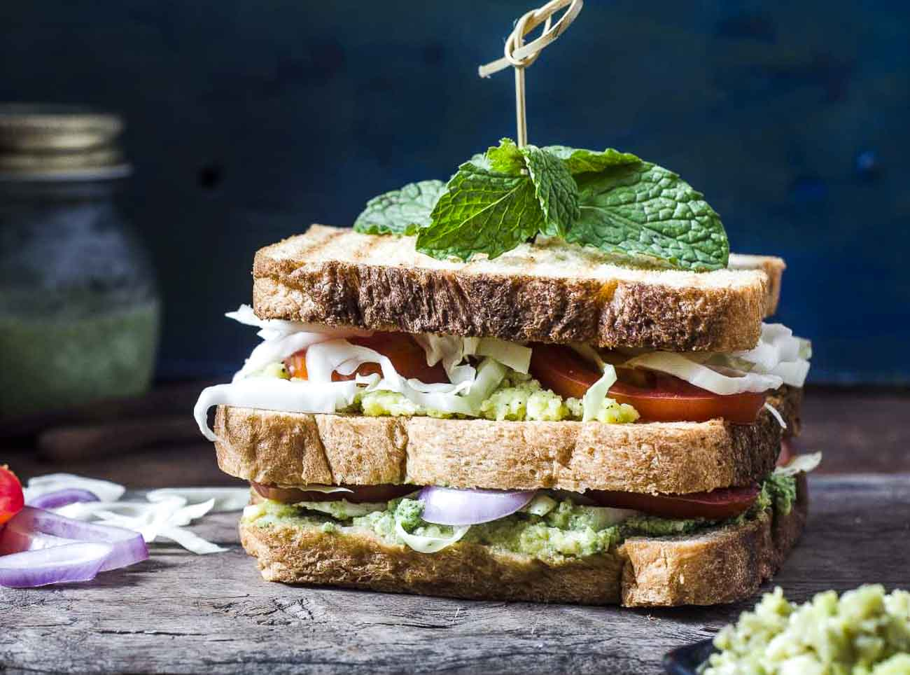 Sandwich Recipe With Mashed Avocado And Cottage Cheese By Archana S Kitchen
