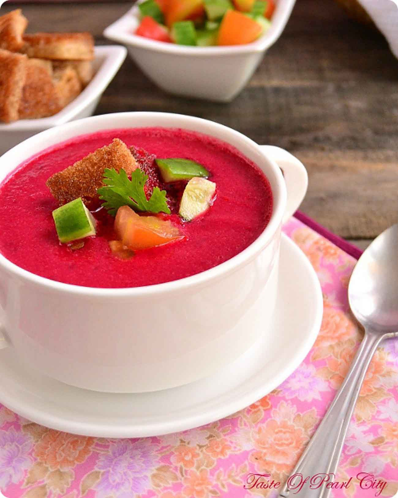 Beetroot Gazpacho Soup Recipe
