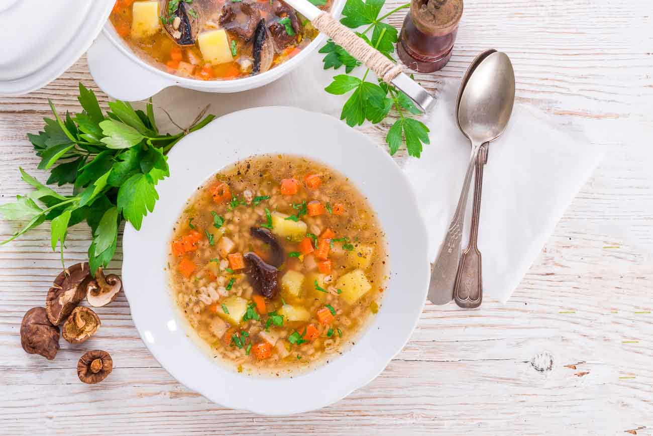 Pearl Barley Vegetable Soup Recipe By Archana S Kitchen