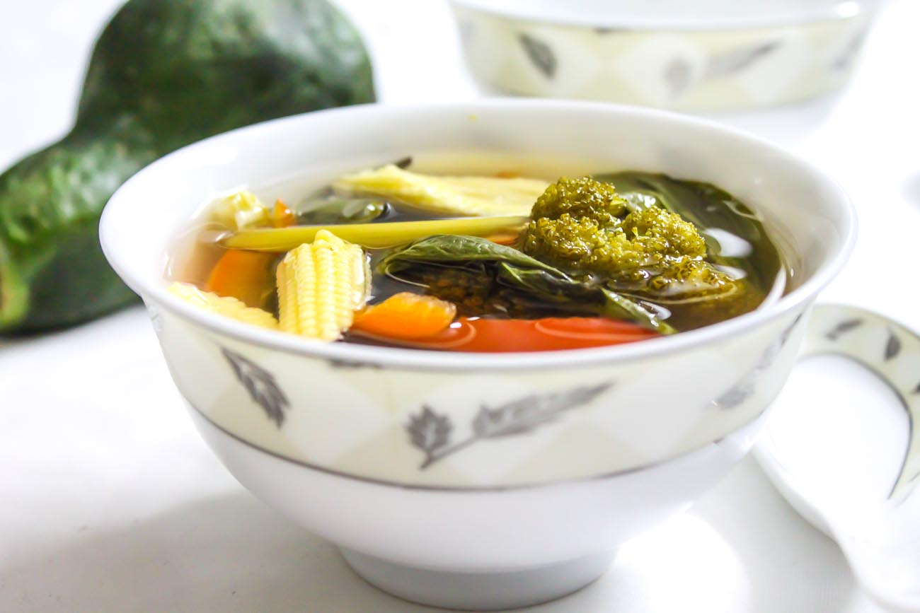 Vegetable Clear Soup With Lemon Grass Recipe