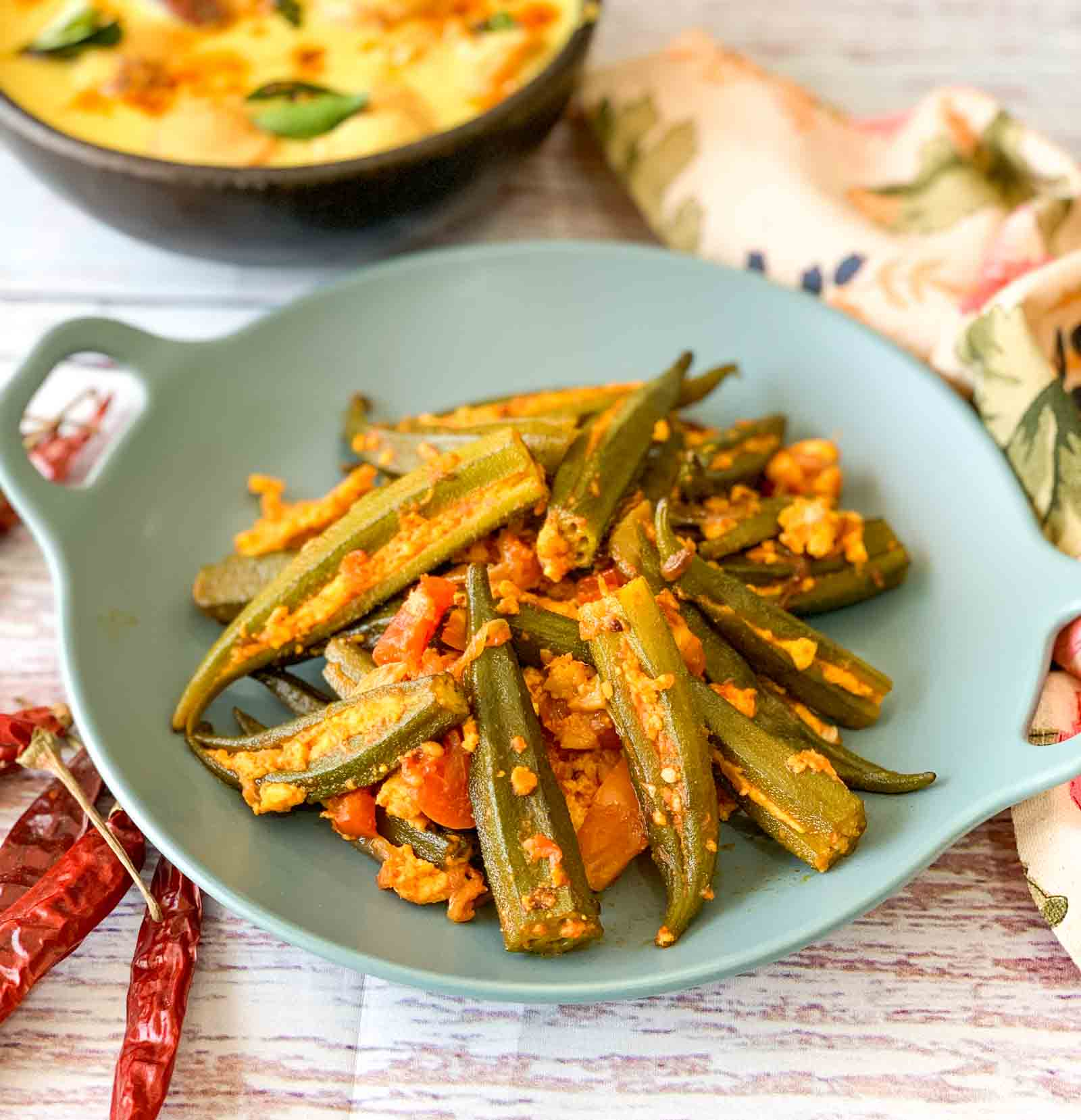 Paneer Stuffed Bhindi Masala Recipe