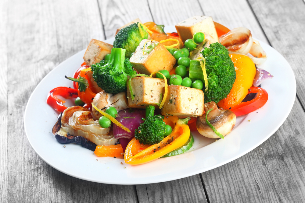 Smoked tofu and grilled vegetable salad recipe by archanas kitchen smoked tofu and grilled vegetable salad recipe forumfinder Image collections