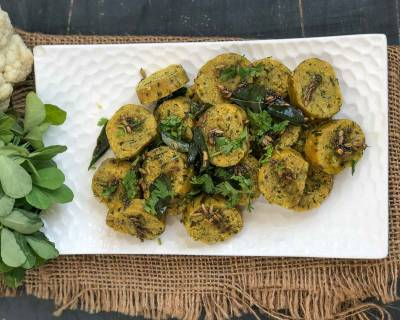 Cauliflower Palak Methi Muthia Recipe