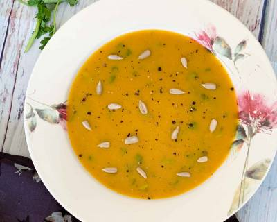 Curried Carrot Celery Soup Recipe