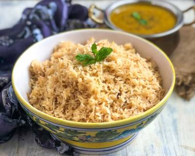 Vagharela Chawal Recipe - Parsi Style Brown Rice