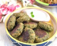 Spinach & Garlic Potato Patties Recipe