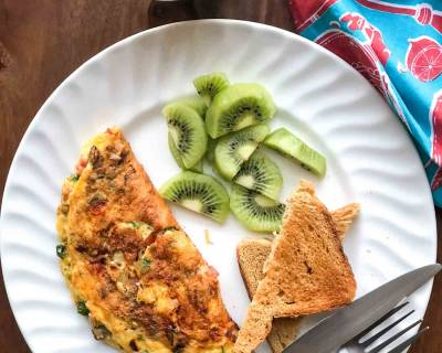 Love Eggs? Here's A Delicious Breakfast Plate With Mushroom Cheese Omelette