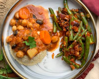 Make Your Weekend Better With This Meal Of Chickpea Stew, Broken Wheat and Greek Style Beans