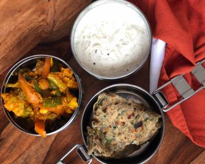 Lunch Box Ideas: Kadai Vegetable, Koki Roti And Lauki Raita