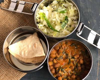 Lunch Box Ideas: Amritsari Chole, Muttaikose Poriyal And Phulka