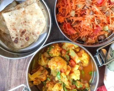 Lunch Box Recipes: Quick Cauliflower Sabzi, Tawa Paratha And Salad
