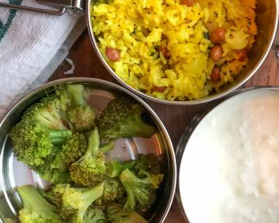 Lunch Box Recipes: Lemon Rice, Stir Fried Broccoli And Curd