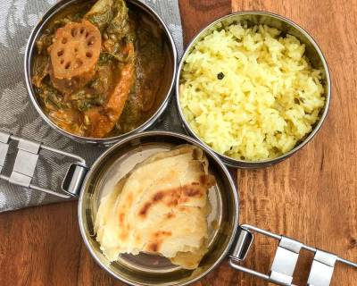 Lunch Box Recipes: Bhey Vangan, Sindhi Tahiri & Lachha Paratha