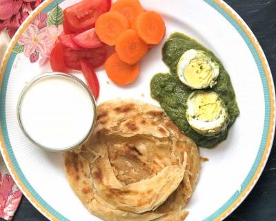 Try This Hariyali Egg Curry & Malabar Parotta For Dinner!