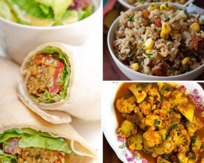 Kids Lunch Box Menu Plan-Grilled Potato Sandwich, Semiya Upma,Falafel Wrap & More