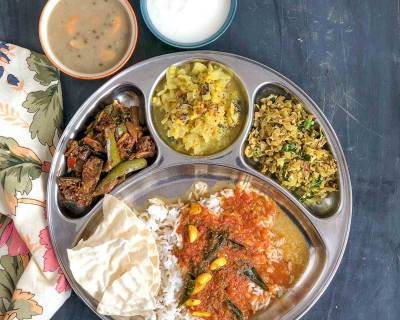 Enjoy A Comforting South Indian Meal With Rasam, Kootu, Poriyal, Rice And Payasam